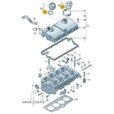Горловина маслозаливная AXC AXB кольцо VAG 06A103483D