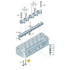 Клапан впускной AXD,AXE,BLJ,AXC,AXB Kolbenschmidt 331033