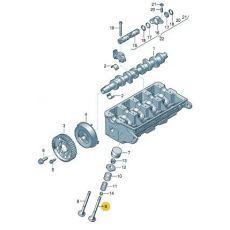 Клапан выпускной AXD,AXE,BLJ,AXC,AXB Kolbenschmidt 331034
