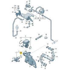 Клапан системы циркуляции ОГ BRS,BRR кольцо VAG N90062702