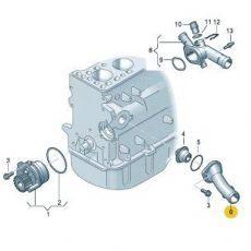 Крышка термостата 1.9  VAG 038121121D