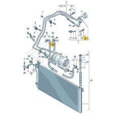 Кольцо уплотнительное трубки кондиционера VAG 3D0260749C