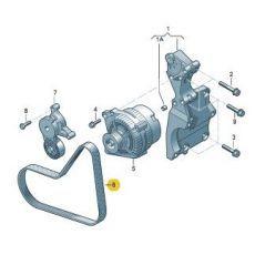 Ремень генератора Фольксваген Т5 AXB,AXC,BRR,BRS 2006 Contitech 6PK1138