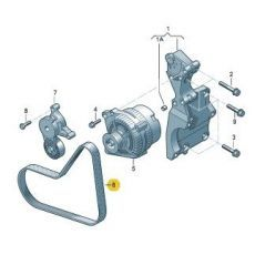 Ремень генератора Фольксваген Т5 AXB,AXC,BRR,BRS 2006 VAG 038903137R