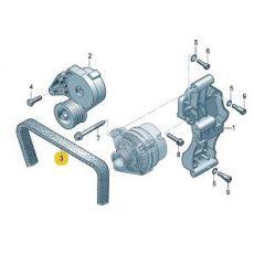 Ремень генератора Фольксваген Т5 с кондиционером AXA AXB AXC 2006 Dayco 6DPK1195