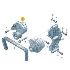 Ролик натяжителя ремня генератора Фольксваген Т5 с натяжителем AXB.AXC VAG 038903315AE