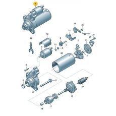 Стартер 1.9 Bosch 0001123012