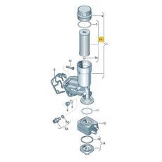 Фильтр масляный (картридж) AXB,AXC,AXE,BLJ VAG 071115562C