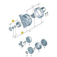 Шкив генератора Фольксваген Т5 INA 535001210