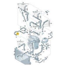 Шланг системы охлаждения VAG 7H0122058D