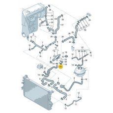 Шланг системы охлаждения VAG 7H0121086A