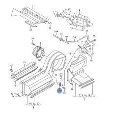 Резистор печки 2002 после Hans Pries 401830755