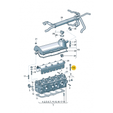 Болт ГБЦ комплект AXA М10х115 Victor Reinz 14-32126-01