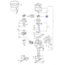 Бегунок (простой) большое отверстие мотор DJ DG ( PD; CH,CL) Hans Pries 101047755