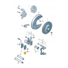 Колодки тормозные задние дисковые R16 с датч. Ate 13.0460-2872.2