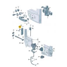 Клипса пружинный зажим сдвижной двери VAG 7H0843213