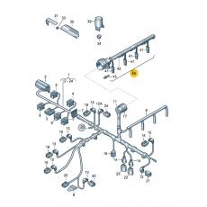 Жгут проводов для форсунок 1.9 VAG 038971600