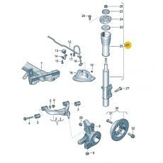 Амортизатор передний 35 нагрузка 1800кг СКИДКИ НЕТ!!! Boge 36-G63-A
