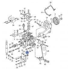 Болт крепления кронштейна ТНВД к блоку М8х26 VAG N0102754