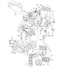 Радиатор печки передний AVA VW6097