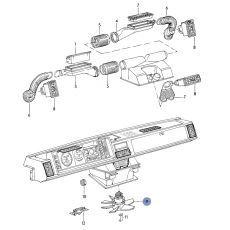 Мотор печки Bosch 0130007027