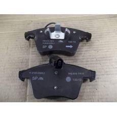 Колодки тормозные передние Фольксваген Т5 R17 с датчиком VAG 7H0698151A