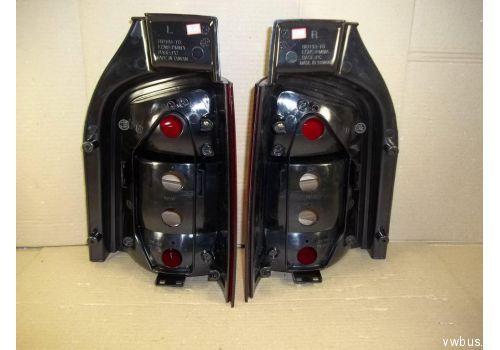 Фонарь задний комплект 2 штуки тюнинг красный хром  HU193-02-2-E-02