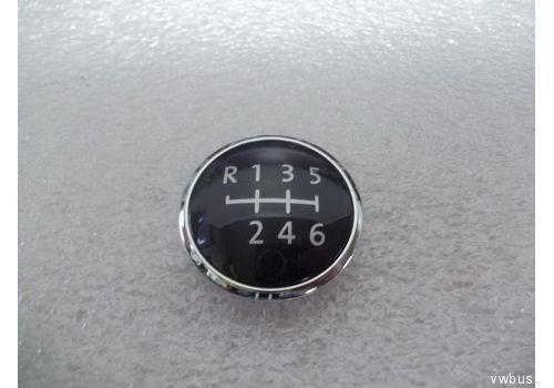 Наклейка на ручку КПП 6-ст КПП хром VAG 7H5711144D