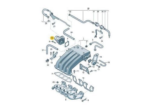 Блок дроссельной заслонки Фольксваген Т5 VAG 06A133062AA