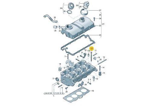 Болт ГБЦ комплект 1,9 Фольксваген Т5 TDI Victor Reinz 14-32121-01