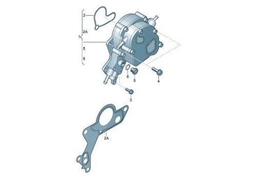 Вакуумный насос 2,5 Фольксваген Т5 Pierburg 7.24807.18.0