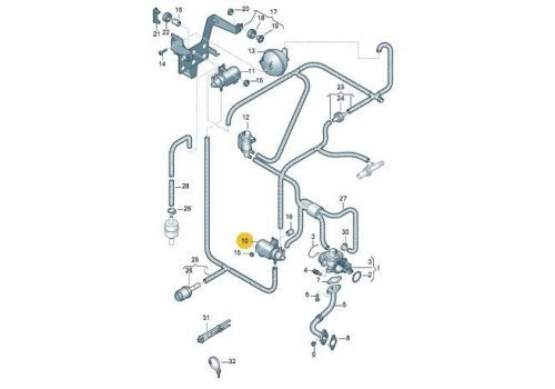 Вакуумный клапан Фольксваген Т5 Pierburg 7.00580.01.0