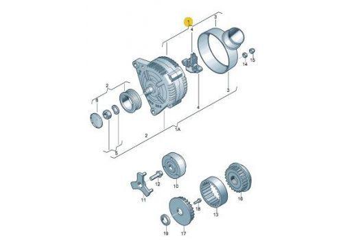 Генератор Фольксваген Т5 120 A Jp.Group 1190102500