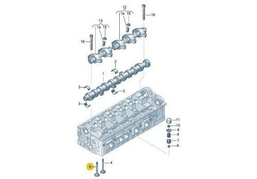Клапан выпускной AXD,AXE,BLJ,AXC,AXB Hans Pries 108105546