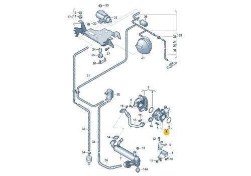 Клапан системы циркуляции ОГ BNZ BPC  Pierburg 7.00823.06.0