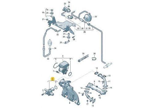 Клапан системы циркуляции ОГ BRS,BRR VAG 038131501BH