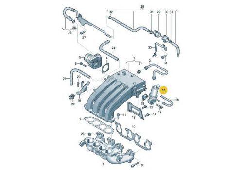 Клапан системы циркуляции ОГ AXA VAG 06A131501Q
