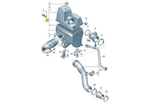 Корпус воздушного фильтра 1.9 2.0 VAG 7H0129607J