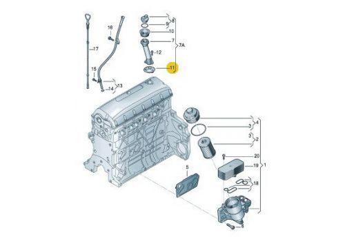 Крышка масло заливной горловины прокладка VAG 038115315