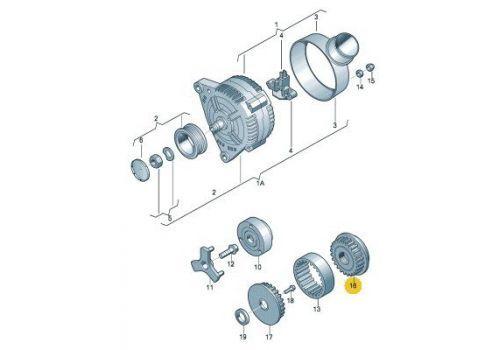 Муфта свободного хода компрессора кондиционера VAG 070903201E