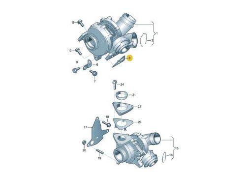 Прокладка турбины AXD,AXE Elring 016.571