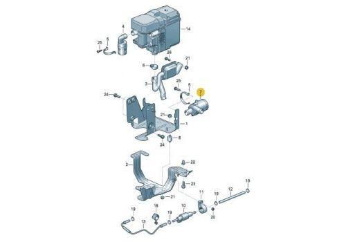 Помпа электрическая дополнительная Pierburg 7.02074.57.0