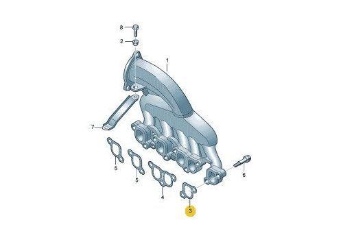 Прокладка впускного коллектора AXD AXE BJL 2.5 VAG 070129717