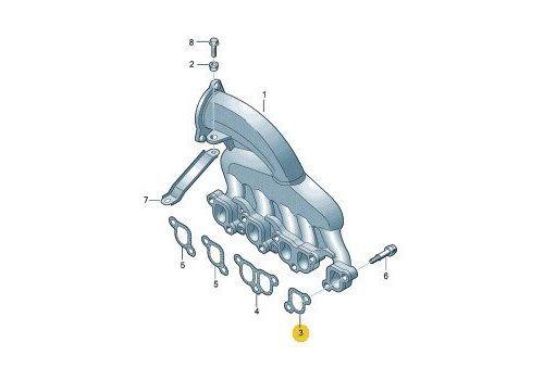 Прокладка впускного коллектора BNZ BPC 2.5 VAG 070129717E