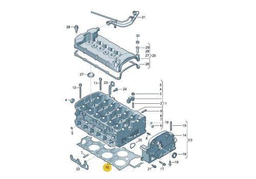 Прокладка головки блока BDL Victor Reinz 61-36090-00