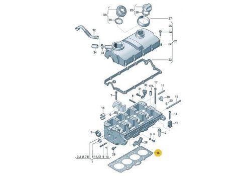 Прокладка головки блока AXC,AXB 2 Victor Reinz 61-34250-10