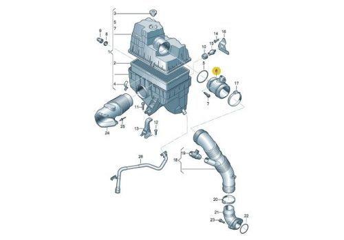 Расходомер воздуха VAG 03G906461C