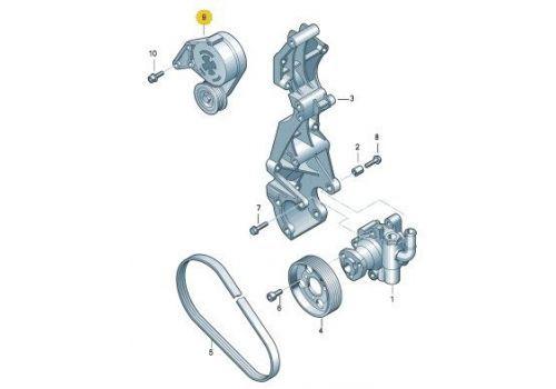Ролик натяжителя ремня генератора Фольксваген Т5 с натяжителем AXA INA 533007630