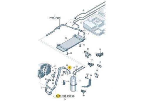 Фильтр топливный +Touareg колпачок VAG 1J0201338K