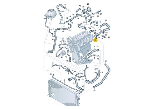 Патрубок системы охлаждения VAG 076121085A